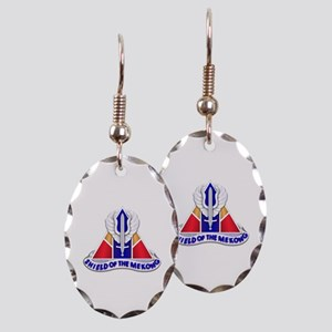 13th Combat Aviation Battalio Earring Oval Charm