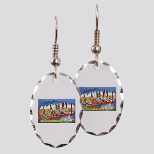 Cleveland Ohio Greetings Earring Oval Charm