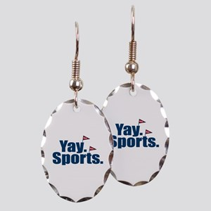 Yay Sports Meh Earring Oval Charm