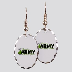Grandson Combat Boots - ARMY Earring Oval Charm