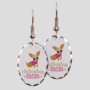 Chihuahua Mom Earring Oval Charm