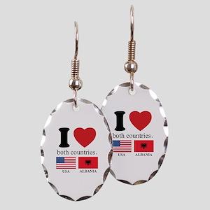 USA-ALBANIA Earring Oval Charm