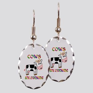 Awesome Cows Earring Oval Charm