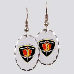 SSI - 1st Battalion - 3rd Marines Earring Oval Cha