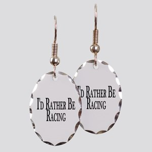 Rather Be Racing Earring Oval Charm