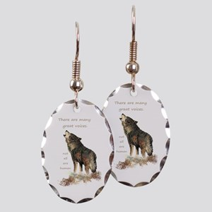 Many Great Voices Inspirational Earring Oval Charm