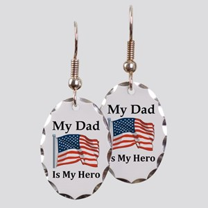 My Dad is my Hero Military Earring Oval Charm