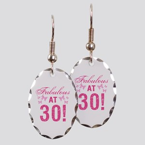 Fabulous 30th Birthday Earring Oval Charm
