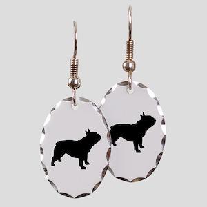 French Bulldog Earring Oval Charm