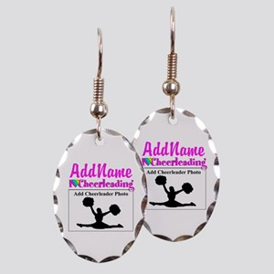 AWESOME CHEER Earring Oval Charm