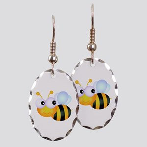 Cute Cartoon Bumble Bee Earring Oval Charm