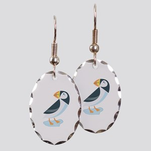 Puffin Earring Oval Charm