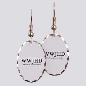 What Would James Herriot Do? Earring Oval Charm