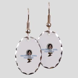 Snowball Diva Earring Oval Charm
