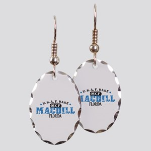 MacDill Air Force Base Earring Oval Charm