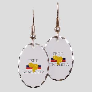 Free Venezuela Earring Oval Charm