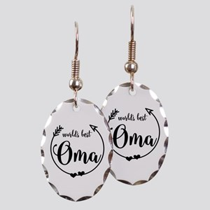 World's Best Oma Earring Oval Charm