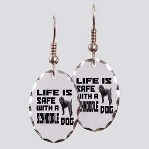 Life Is Safe With A Schnoodle D Earring Oval Charm