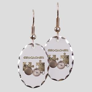 Geocacher Earring Oval Charm
