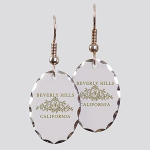 Beverly Hills CA Earring Oval Charm