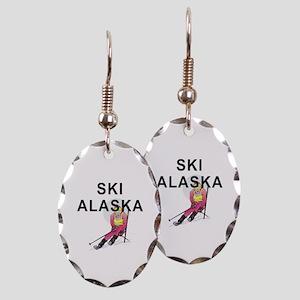 Ski Alaska Earring Oval Charm