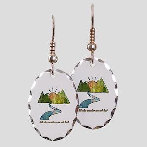 Wander Earring Oval Charm