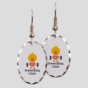 Powerlifting Chick Earring Oval Charm
