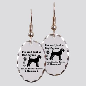 Airedale Terrier Mommy Earring Oval Charm