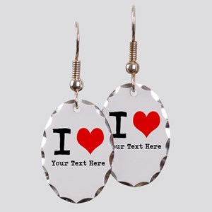 I Heart (personalized) Earring Oval Charm