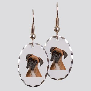 Boxer Earring Oval Charm