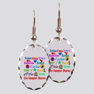 Vampire Diaries Characters Earring Oval Charm