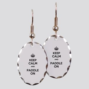 Keep Calm and Paddle On Earring Oval Charm