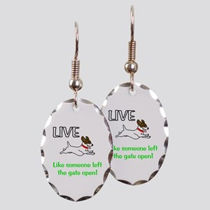 Live the gates open Earring Oval Charm