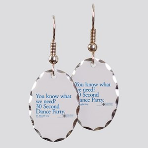 30 Second Dance Party Quote Earring Oval Charm
