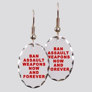 BAN ASSAULT WEAPONS FOREVER Earring Oval Charm