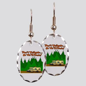 Don't Tailgate Or We'll Flush Earring Oval Charm