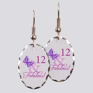 Fabulous 12th Birthday Earring Oval Charm