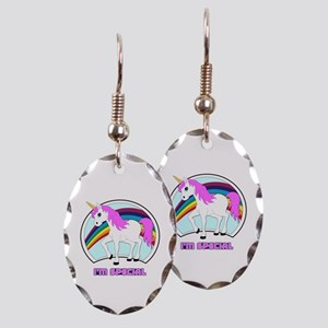 I'm Special Funny Unicorn Earring Oval Charm