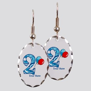 2nd Birthday Personalized Earring Oval Charm