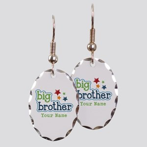 Personalized Big Brother Earring Oval Charm