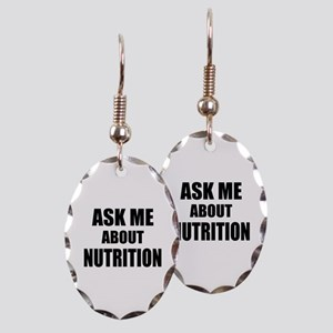 Ask me about Nutrition Earring Oval Charm