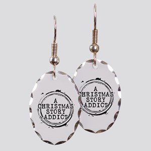 A Christmas Story Addict Stamp Earring Oval Charm