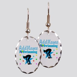 SWIM TEAM Earring Oval Charm