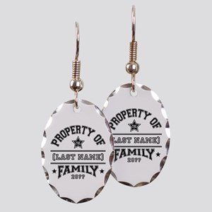 Family Property Earring Oval Charm