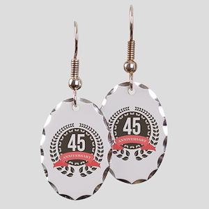 45Years Anniversary Laurel Badg Earring Oval Charm