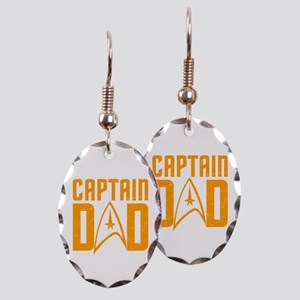 Captain Dad Earring Oval Charm