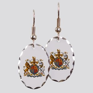 British Royal Coat of Arms Earring Oval Charm