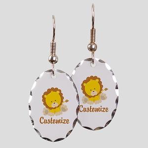 Custom Baby Lion Earring Oval Charm