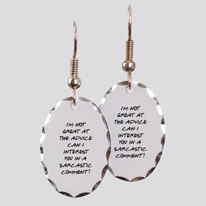Sarcastic Comment Earring Oval Charm