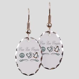 Peace love poker Earring Oval Charm